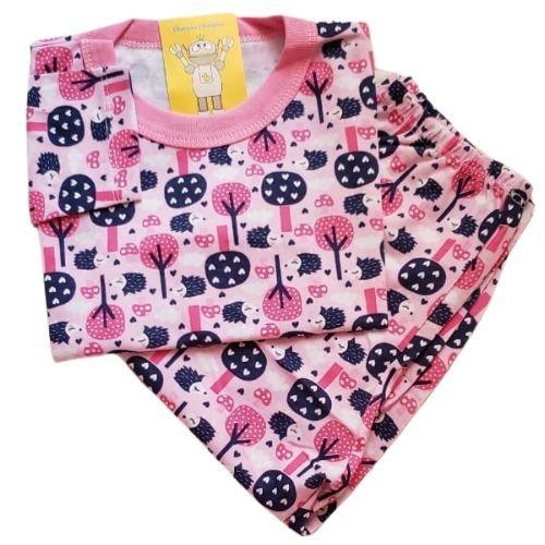Pijama Infantil Malha 100% Algodão - 4 ao 8 - Porco Espinho