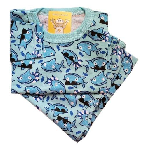 Pijama Infantil Malha 100% Algodão - 1 ao 3 - Tubarão