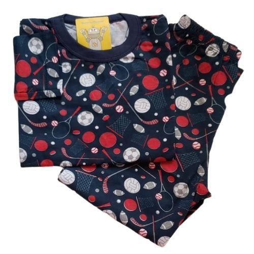 Pijama Infantil Malha 100% Algodão - 4 ao 8 - Balls