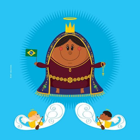 Capa de Almofada Nossa Senhora Aparecida - Coisa de Santo