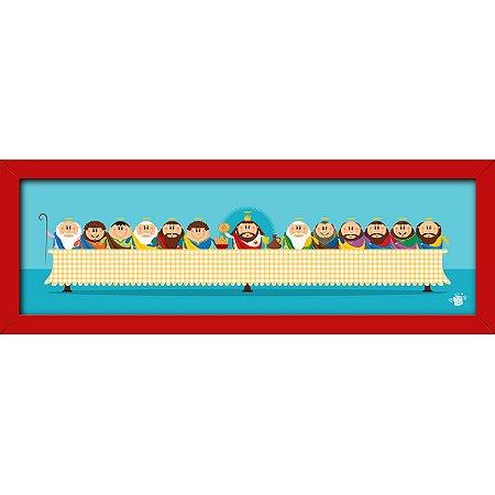 Quadro Santa Ceia 50x15 - Coisa de Santo