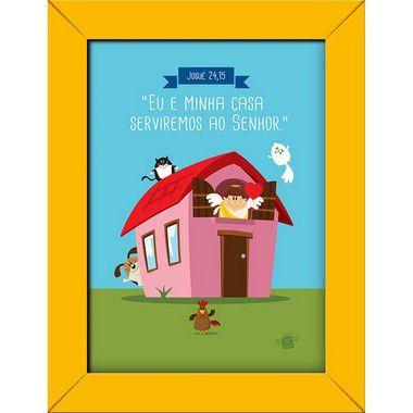 Imagem impressa em papel fotográfico - Eu e minha casa