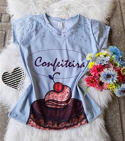 T shirt Feminina Profissão no Atacado Confeiteira