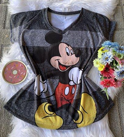 Camiseta Feminina Personagem No Atacado Mickey Mouse
