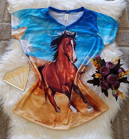 Blusa Feminina Estampa Animal no Atacado Cavalo Paisagem