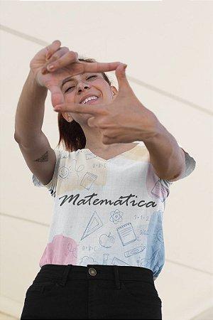 T shirt Feminina Profissão no Atacado Elementos Matemática