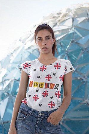 T shirt Feminina Profissão no Atacado Professora de Inglês