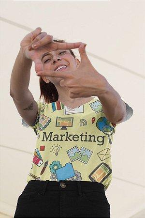 T shirt Feminina Profissão no Atacado Marketing