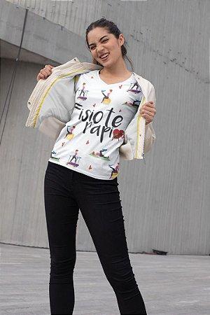 T shirt Feminina Profissão no Atacado Fisioterapia elementos