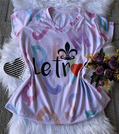 T shirt Feminina Profissão no Atacado Letras