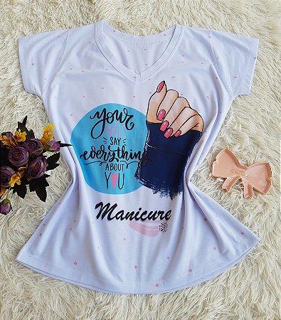 T shirt Feminina Profissão no Atacado Manicure