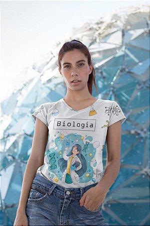 T shirt Feminina Profissão no Atacado Biologia