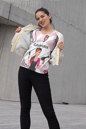 T shirt Feminina Profissão no Atacado Boneca Cabeleireira