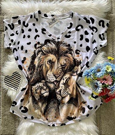 Blusa Feminina Estampa Animal no Atacado Leões
