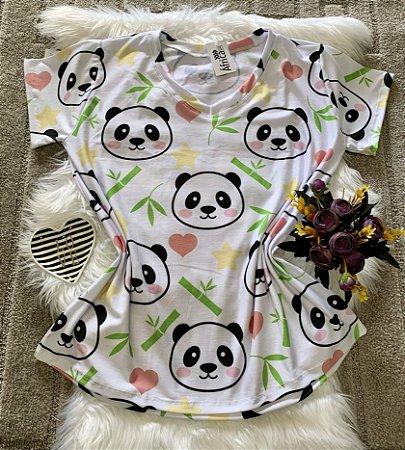 Blusa Feminina Estampa Animal no Atacado Pandas Rostos