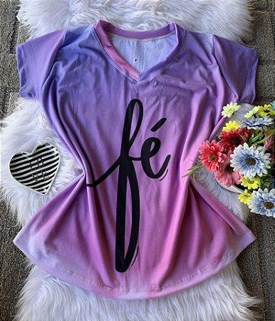 T shirt Feminina Religiosa no Atacado Fé Fundo Céu