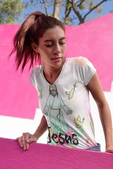T shirt Feminina Religiosa no Atacado Jesus