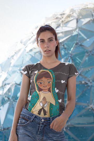 T shirt Feminina Religiosa no Atacado Santinha