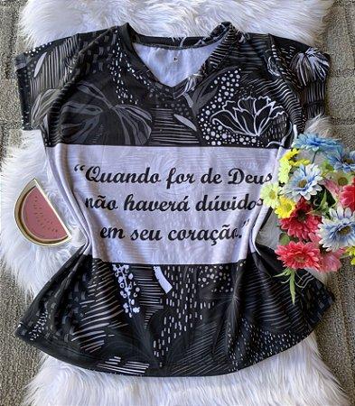 T shirt Feminina Religiosa no Atacado Se For de Coração