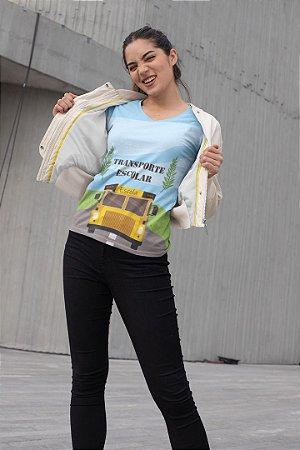 T shirt Feminina Profissão no Atacado Transporte Escolar