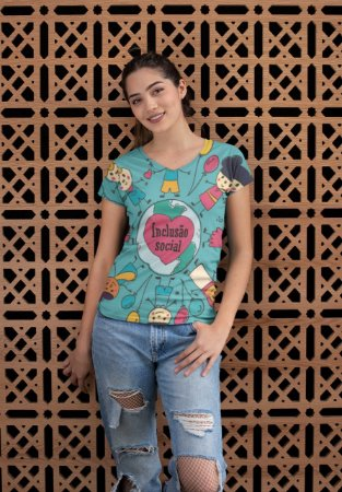 T shirt Feminina Profissão no Atacado Inclusão social