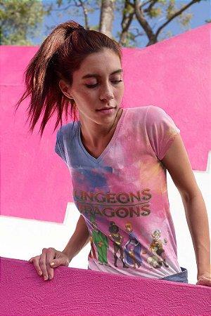 Camiseta Feminina Personagem No Atacado Caverna do Dragão