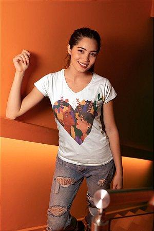 T shirt Feminina Básica no Atacado Girls Coração