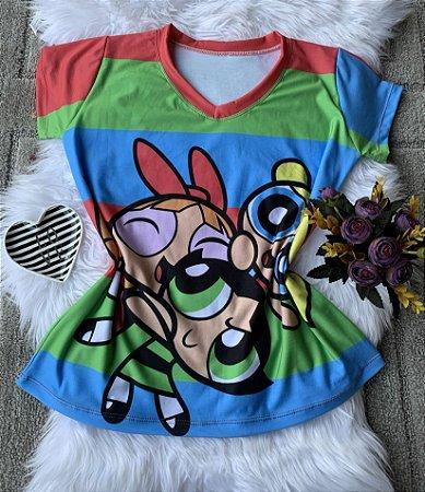 Camiseta Feminina Personagem No Atacado Meninas Super Poderosas
