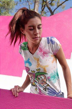 Camiseta Feminina Personagem No Atacado Padrinhos Mágicos