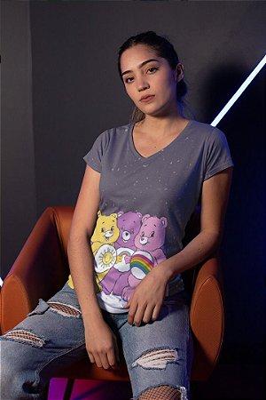 Camiseta Feminina Personagem No Atacado Ursinhos Carinhosos