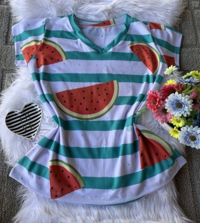 Camiseta Feminina Floral no Atacado Melancias