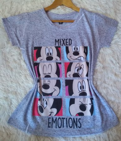 Blusinha Feminina no Atacado Mickey Mixed