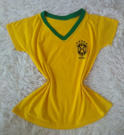T Shirt Feminina no Atacado Copa do Mundo