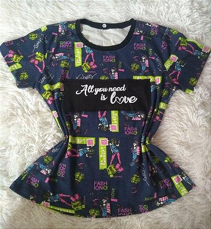 T-Shirt Feminina no Atacado All You Need Is Love