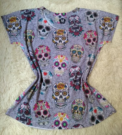 T-shirt Feminina no Atacado Caveiras Mexicanas
