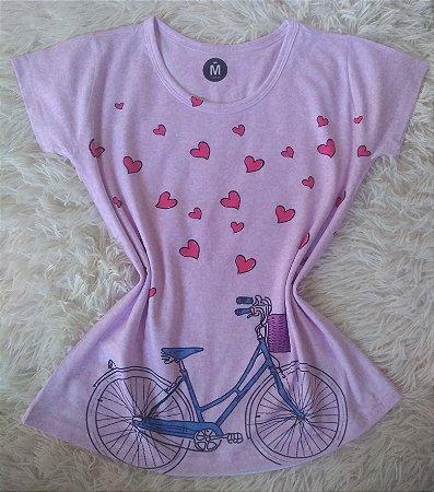 Blusinha Feminina no Atacado Bike Corações