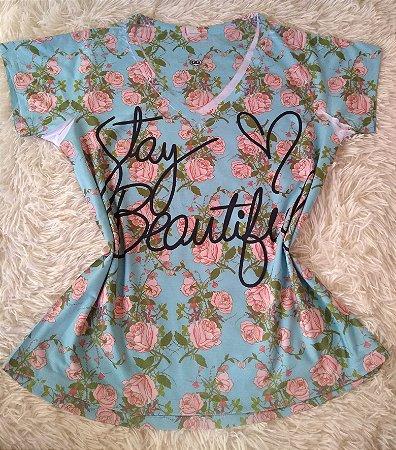 T Shirt Feminina no Atacado Stay Beautiful
