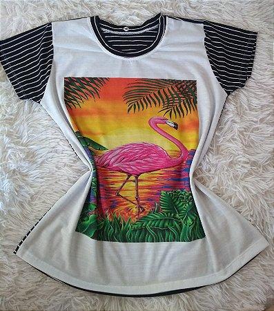 Blusa Feminina Para Revenda Flamingo Paisagem