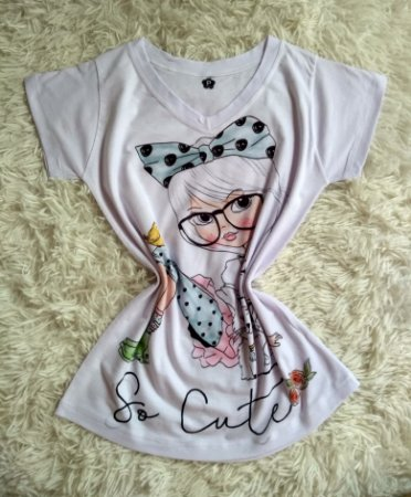 Blusinha Feminina no Atacado Girl So Cute