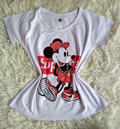 TShirt Feminina no Atacado Mickey Supreme