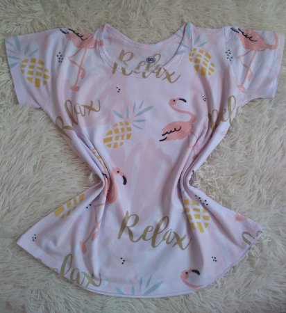 Blusinha Feminina no Atacado Flamingo Relax