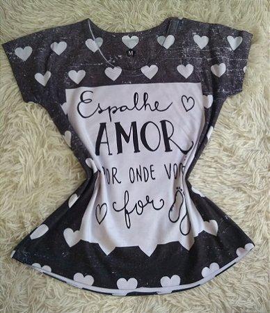 T shirt Feminina no Atacado Espalhe Amor