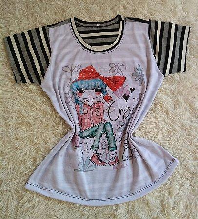 T-Shirt Feminina Para Revenda Girl Chic