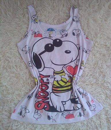 Camiseta Feminina no Atacado Snoopy