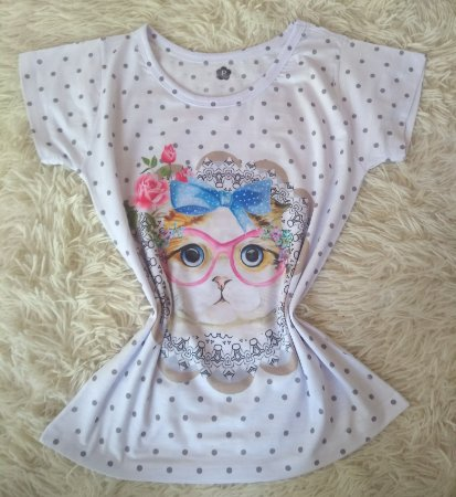 T-Shirt Feminina No Atacado Cat Chic