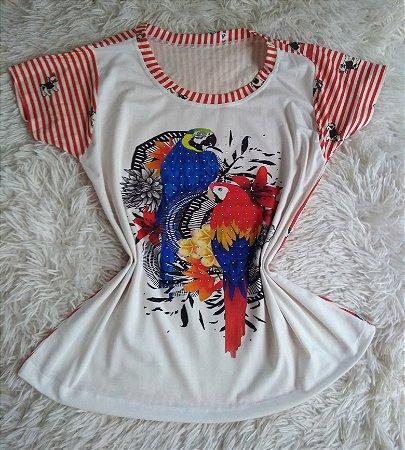 Tee Feminina Para Revenda Papagaios