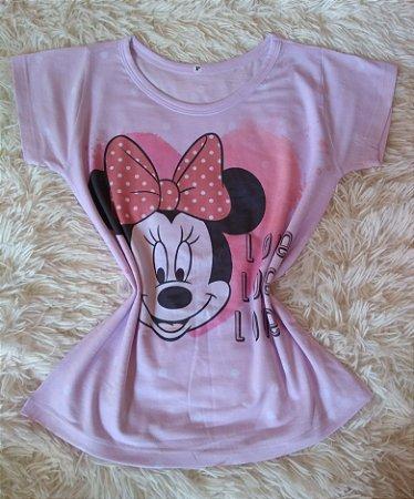 T-Shirt Feminina Para Revenda Minnie Love