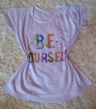 T Shirt Feminina no Atacado Be Yourself