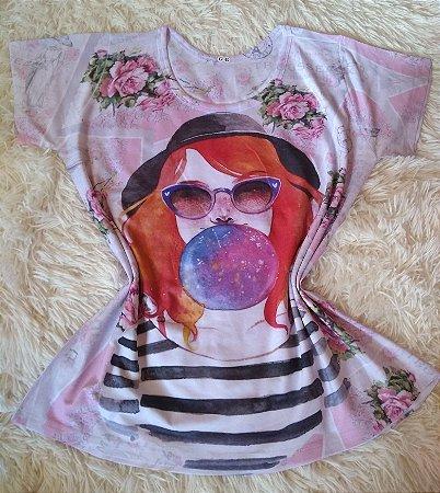 Blusa Feminina Para Revenda Girl Chiclete