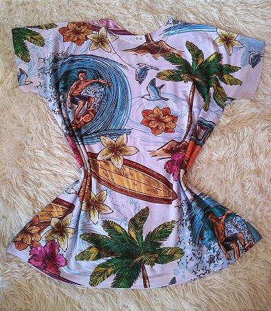 T-Shirt Feminina no Atacado Elementos Praia